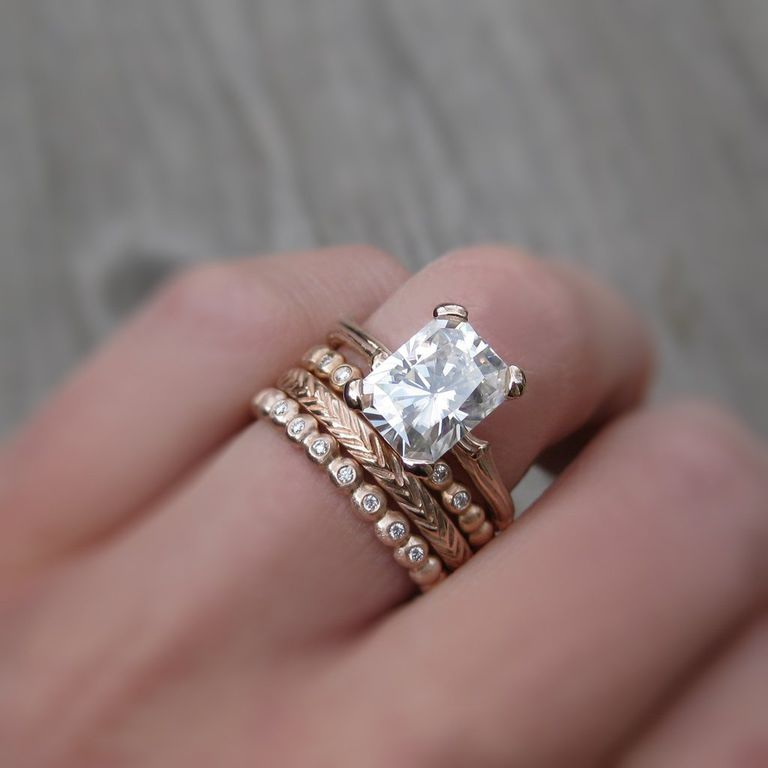 Rose Gold Jewelry Ring Stack