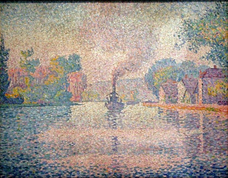 Paul Signac - L'Hirondelle Steamer on the Seine