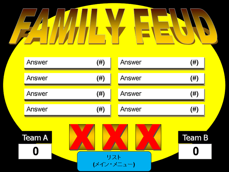 6 free family feud powerpoint templates for teachers screenshot of a yellow powerpoint template for family feud toneelgroepblik Choice Image