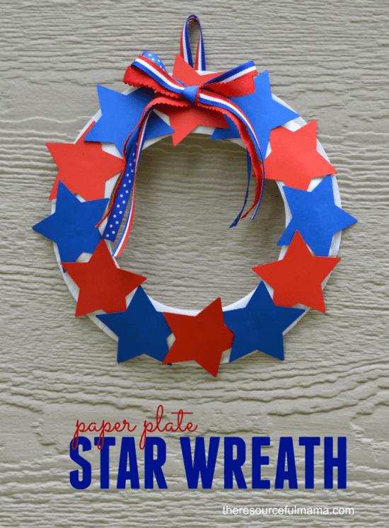 Patriotic Star Wreath