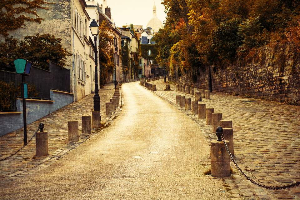 Montmartre is sublime in the autumn-- and perfect all year round for Romantic walks.