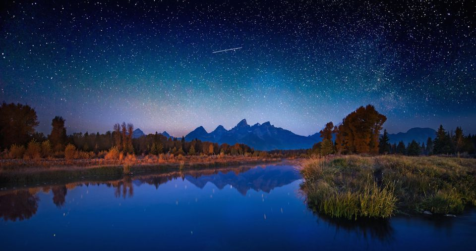 Star Filled Sky over the Grand Tetons