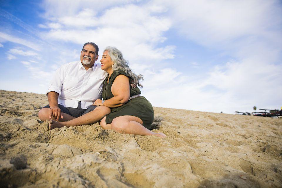Senior Mexican Couple at the Beach