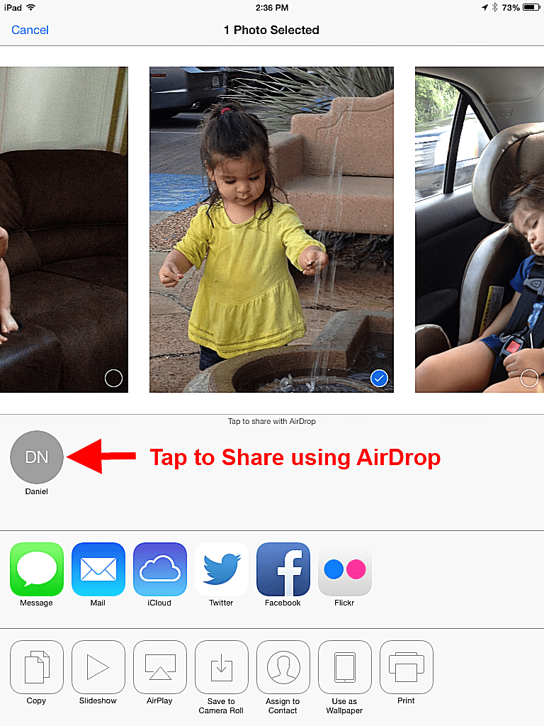 how to turn airdrop on ipad 4
