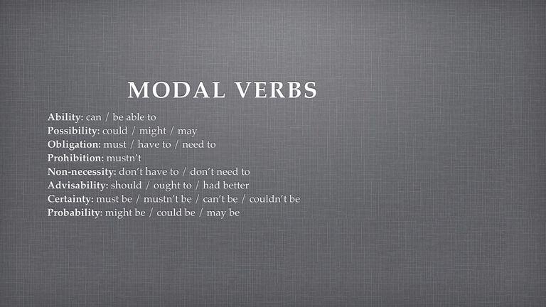 Modal Verbs Overview
