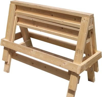 Free Woodworking Plans - The Completed Sawhorses