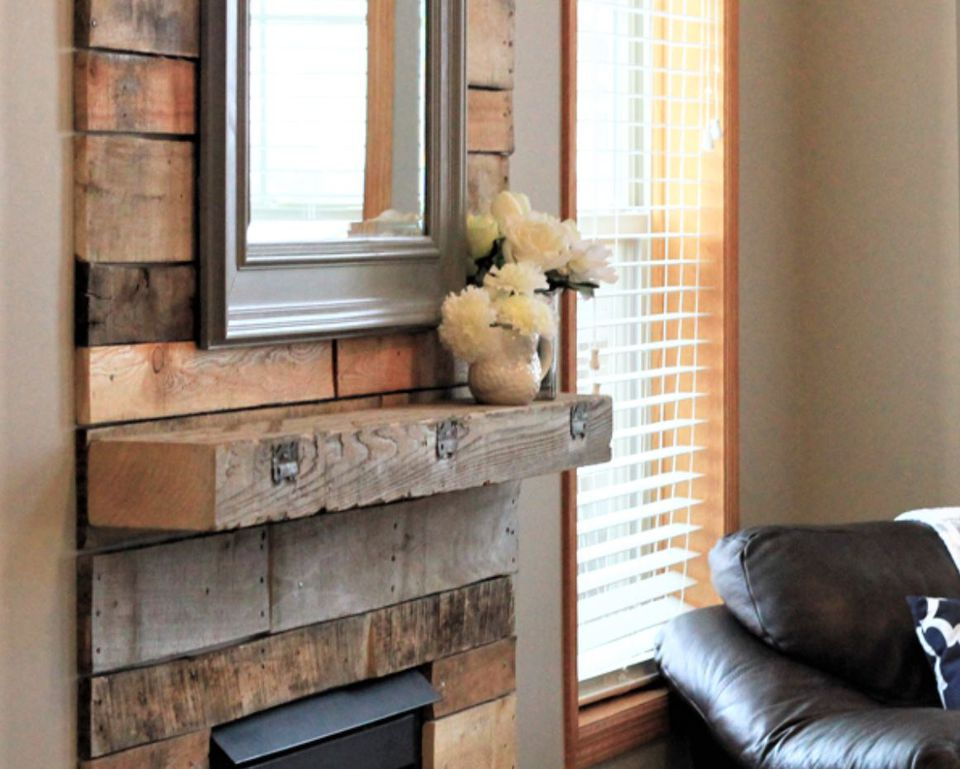 15 diy reclaimed wood and pallet fireplace surrounds for Reclaimed wood dc