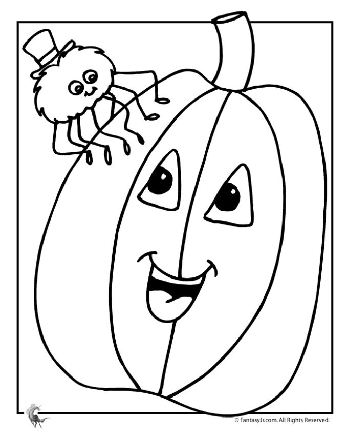 A Smiling Pumpkin With Spider