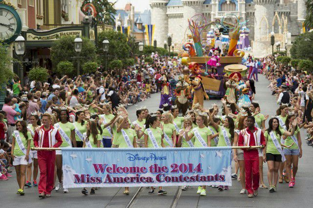 Miss America Contestants at Disney World