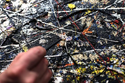 Restoration of Jackson Pollock's 'Alchemy' Painting