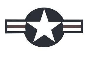 United States Air Force logo against a white background