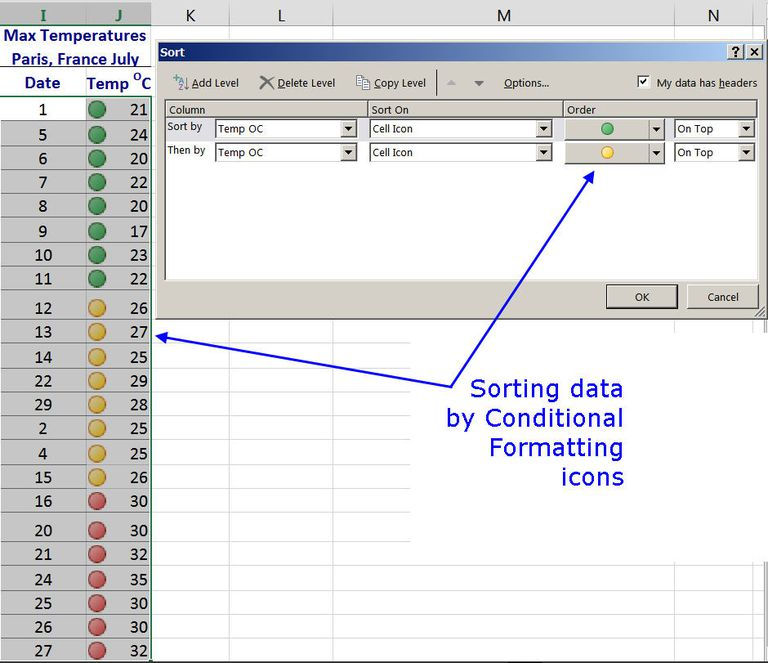 how to add icons in excel 2013