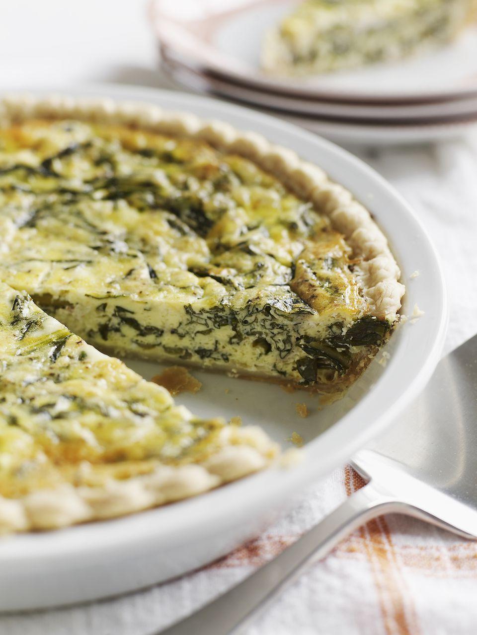 Gluten-free spinach quiche