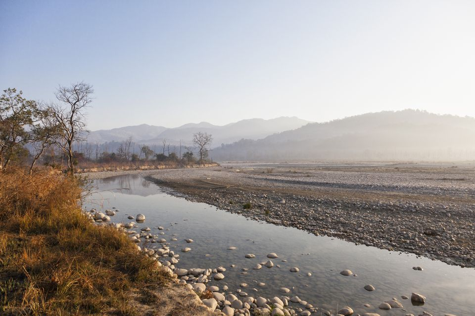 Uttarakhand, View of Ramganga River at Corbett.