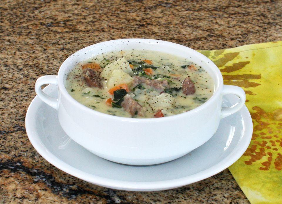 Sausage and Potato Soup With Kale
