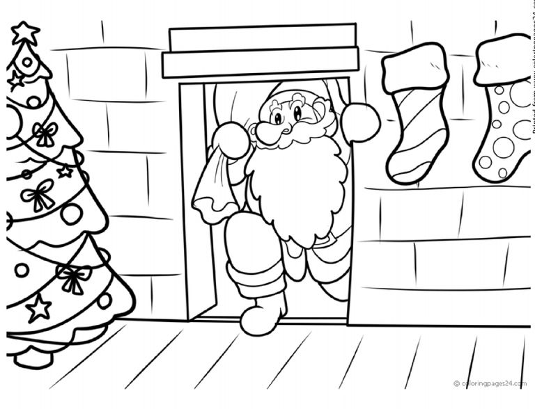 Coloring Pages 24 Printable Christmas