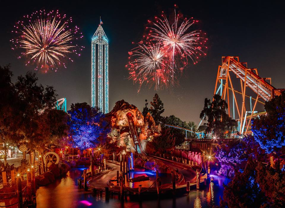 Fireworks over Knott's Berry Farm