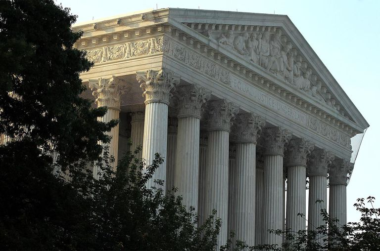 An exterior view of the U.S. Supreme Court