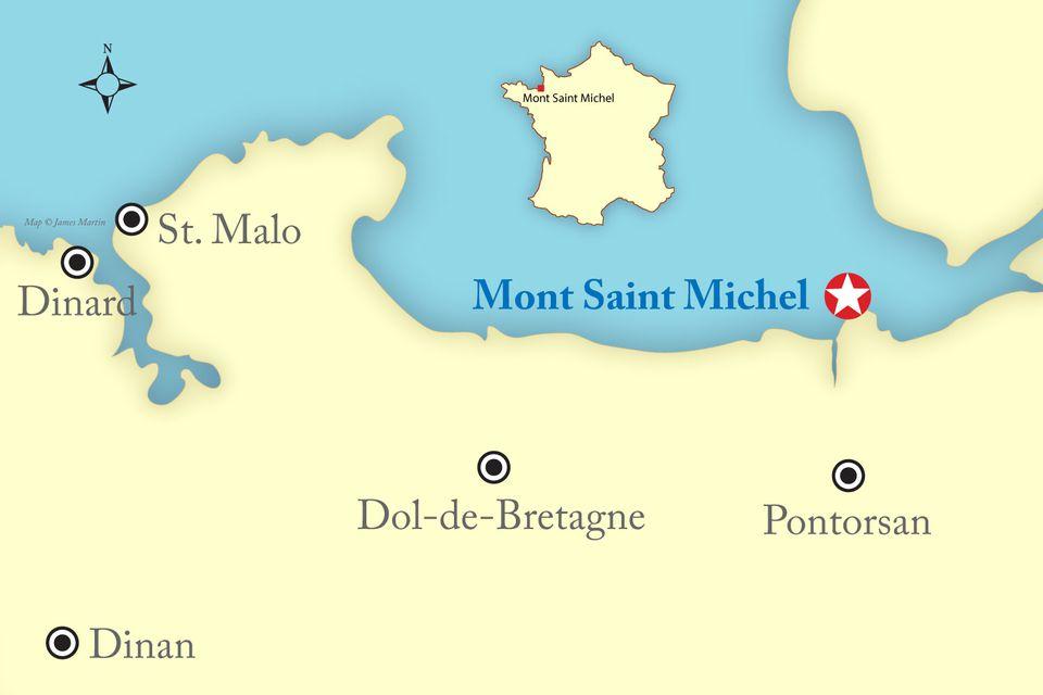 mont saint michel map