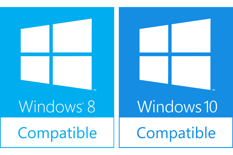"Picture of the ""Windows 8/10 Compatible"" logos"