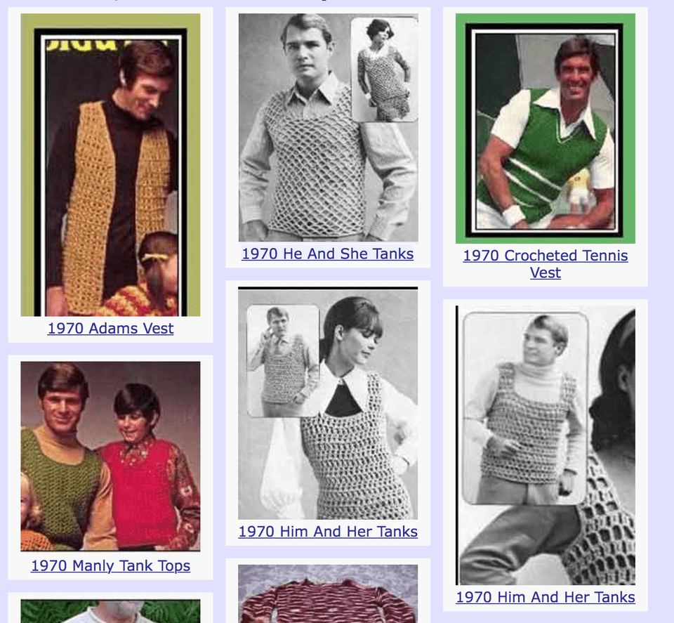 100+ Free Crochet Patterns for Men