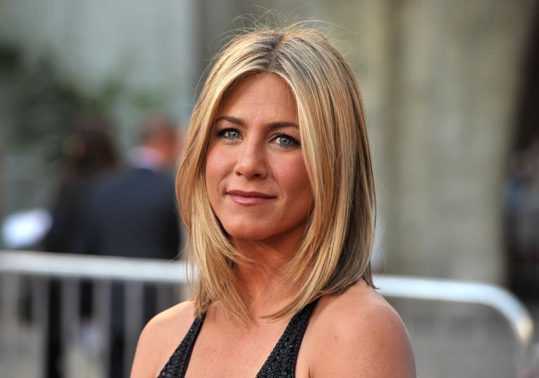 Jennifer Aniston with layered hair