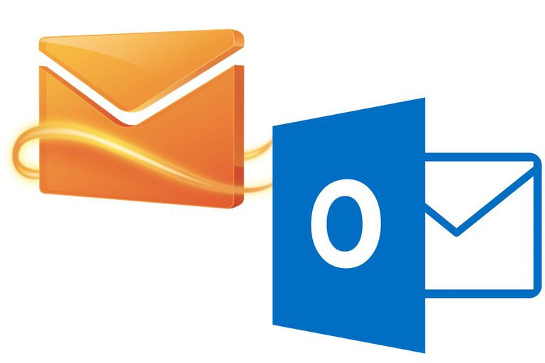 Hotmail and Outlook logos