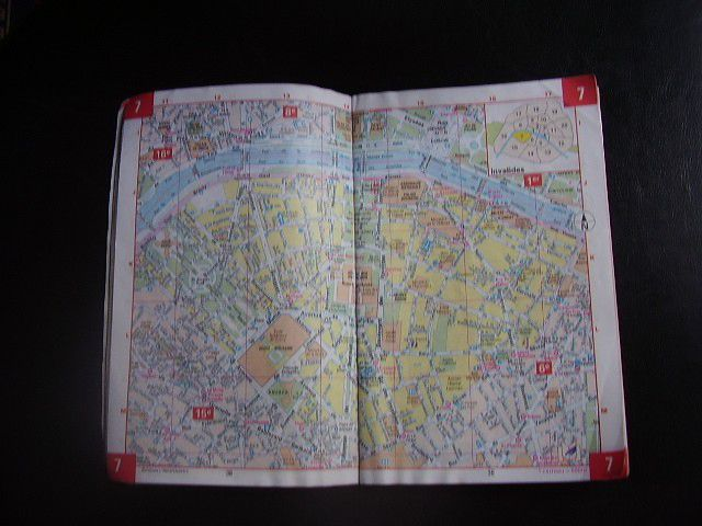 """My own """"well-loved"""" copy of the classic Paris street map."""