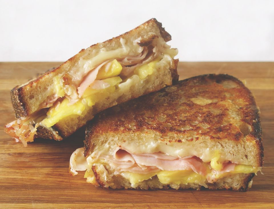 Comte Grilled Cheese with Ham and Pineapple