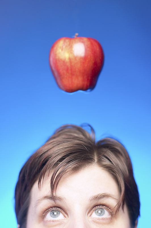 apple over head