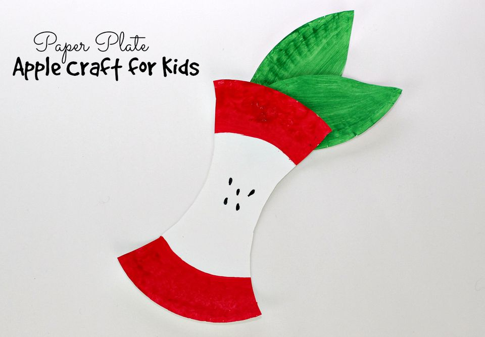 DIY: Paper Plate Apple Craft for Kids