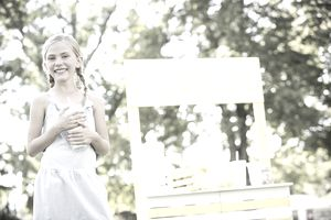 Girl with Lemonade Stand