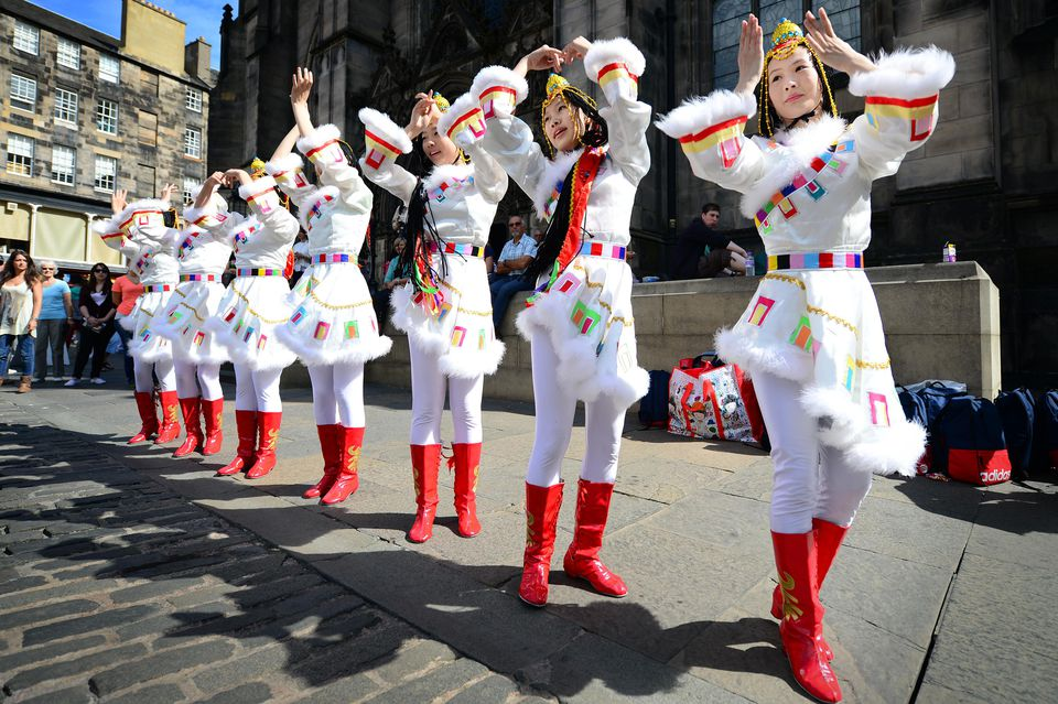 Edinburgh Festival Celebrated On The Royal Mile