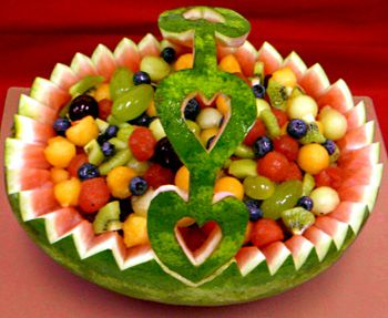 Watermelon fruit basket carving recipe food cooking receipt
