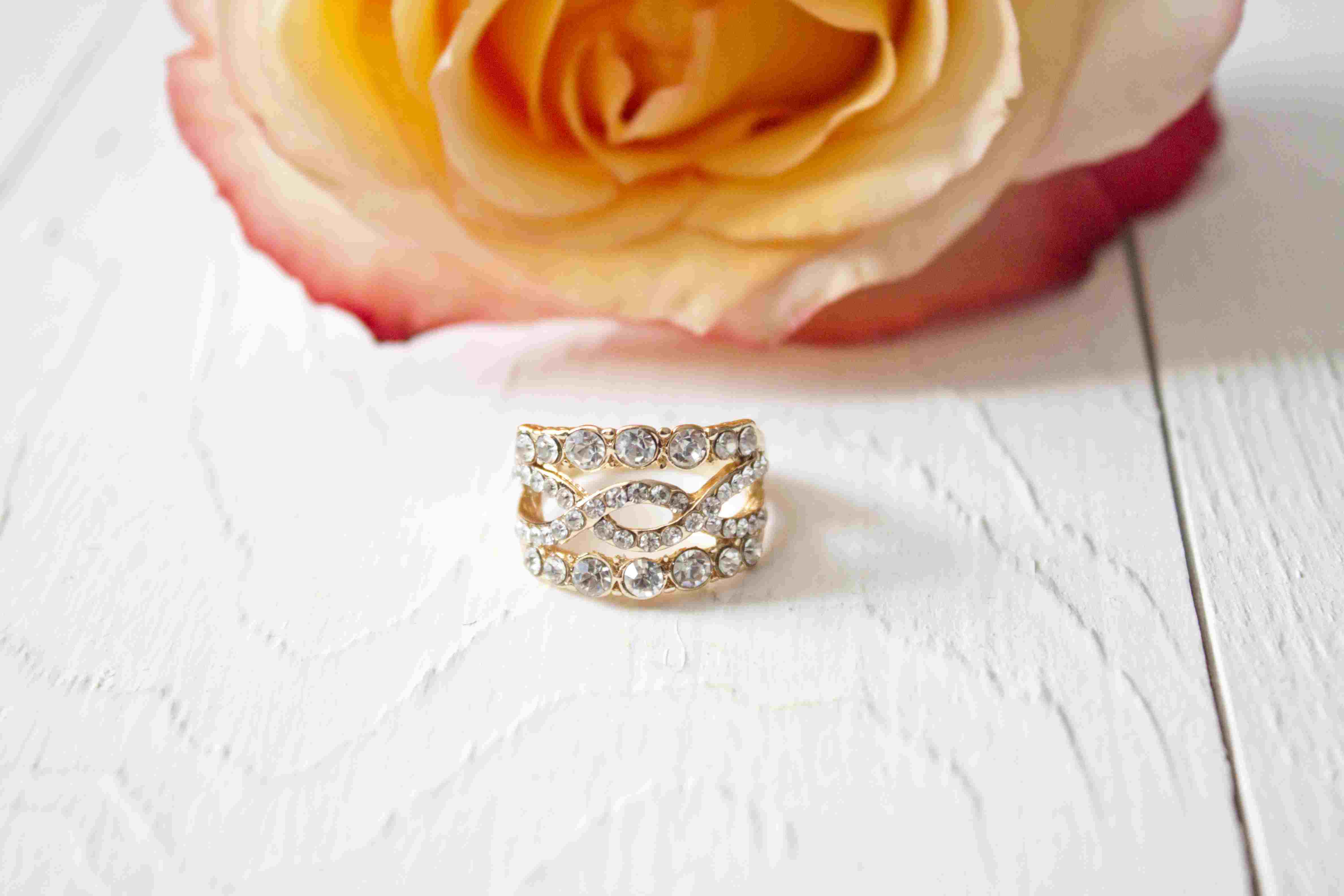 diamond wedding year cttw round gold rings yellow cluster ring waldin jewelers set matching