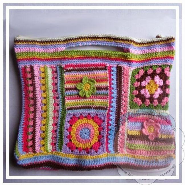 Scrapalicious Crochet Purse
