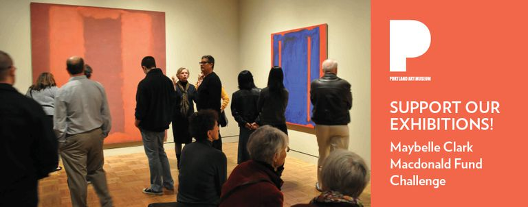 Viewers at the Portland Art Museum
