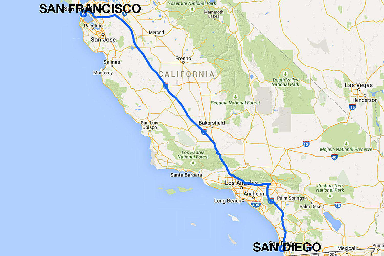 San Diego to San Francisco All the Ways to Travel