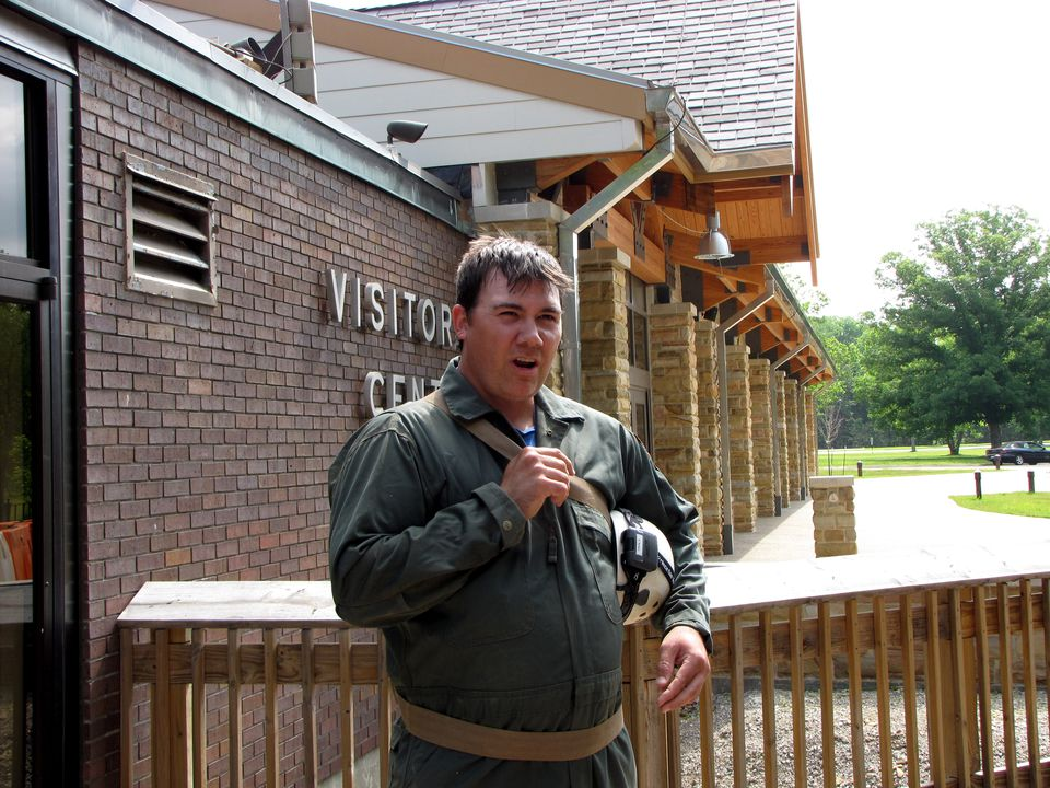Our guide of the Mammoth Cave Tours, Gabe Esters