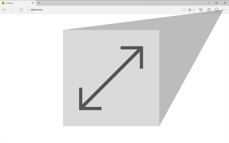 Microsoft Edge fullscreen