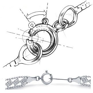 Soring Ring Jewelry Clasp