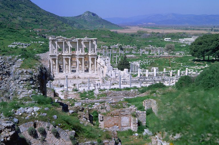 Ancient Library of Celsus in Ephesus, Turkey