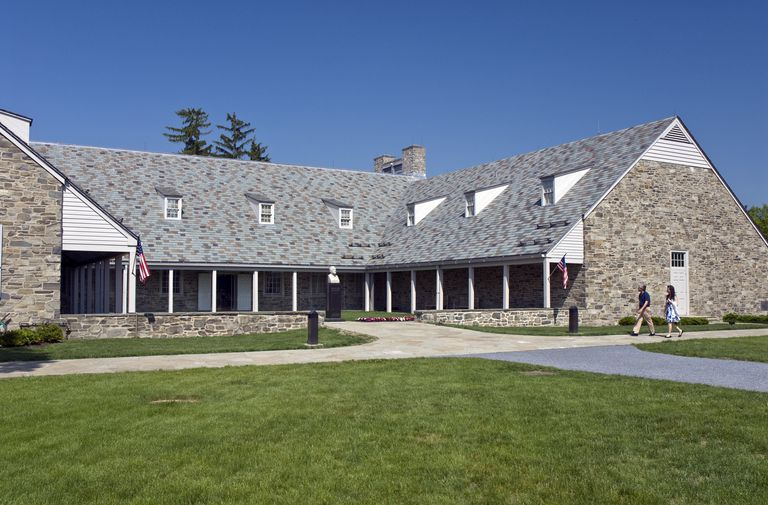 Courtyard Entrance of the FDR Presidential Library in Hyde Park, New York