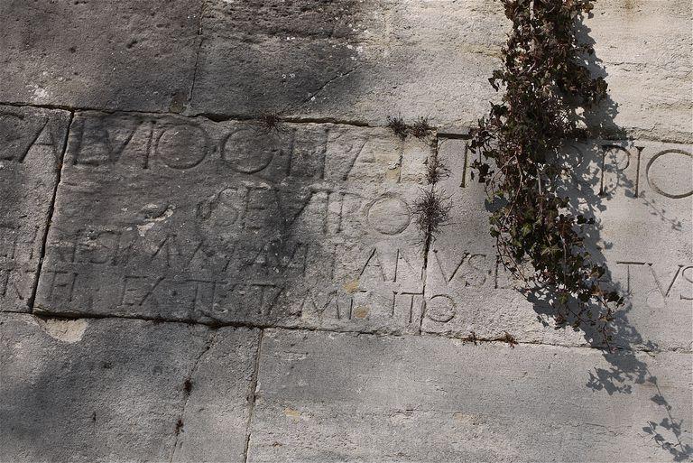 Roman antic remains of Saint-Irénee district, in Lyon