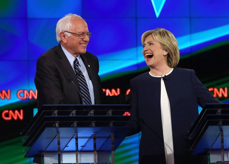 Hillary and Bernie Democratic Debate