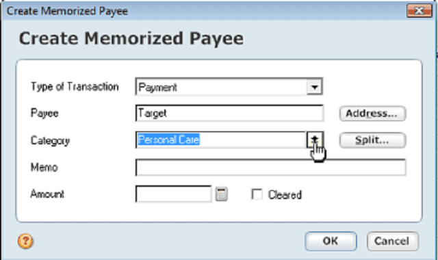 Set up memorized payees in Quicken so that your transactions download with the correct categories.