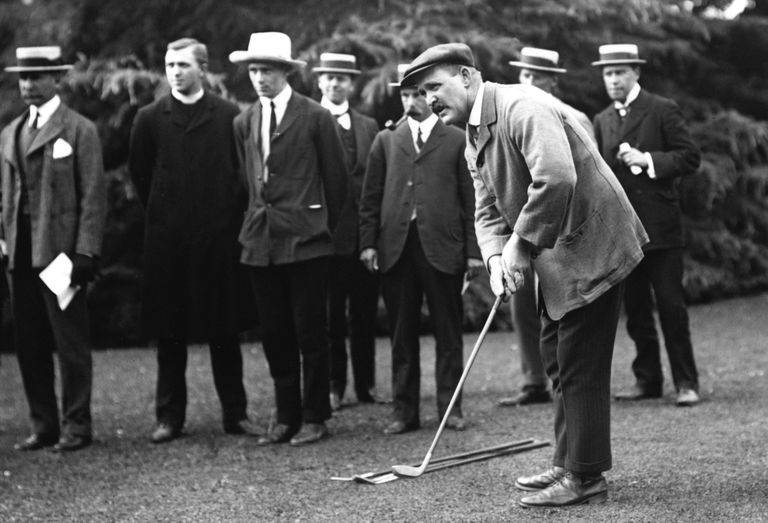 5-time British Open winner J.H. Taylor pictured in 1908