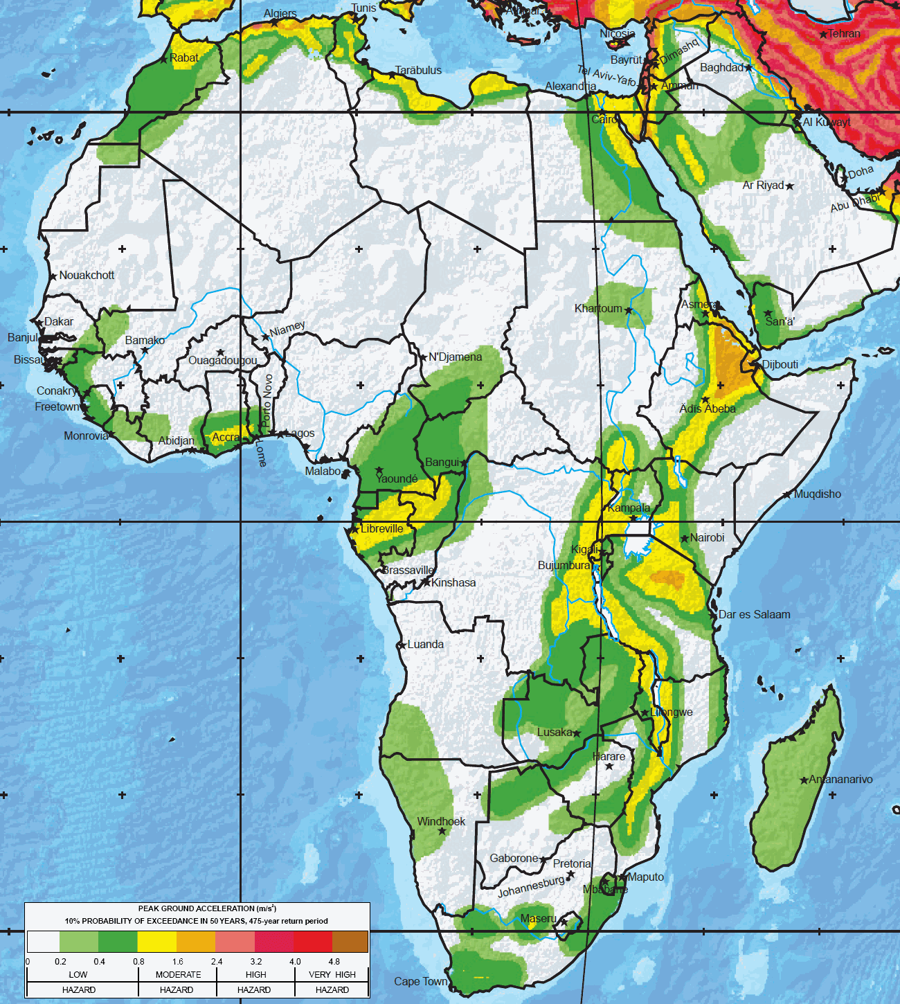 Major earthquake zones on each continent gumiabroncs Images