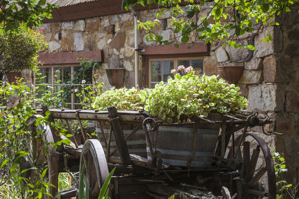 German-themed village, old winery wagon, Hahndorf, Adelaide Hills, Australia