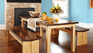 13 free dining room table plans for your home a dining room set with a table and benches solutioingenieria Gallery